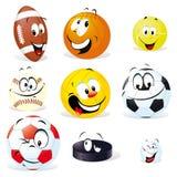 Desenhos animados das esferas do esporte Fotografia de Stock Royalty Free