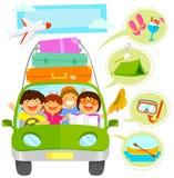 Desenhos animados das férias em família ajustados Fotos de Stock Royalty Free