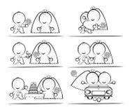 desenhos animados de Casamento-dia Fotografia de Stock