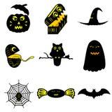 Desenhos animados de Dia das Bruxas imagem de stock royalty free
