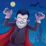 Desenhos animados de Dracula ilustração royalty free