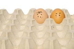 Desenhos animados de Drawed no ovo Fotos de Stock