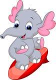 Desenhos animados de Elephan ilustração do vetor