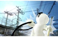 Desenhos animados de Expert Success Sculpture do eletricista foto de stock royalty free