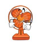 Desenhos animados de fumo do fã de tabela Foto de Stock