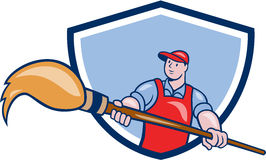 Desenhos animados de Giant Paintbrush Crest do pintor do artista Fotos de Stock