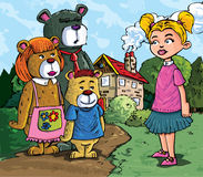 Desenhos animados de Goldilockes ilustração royalty free