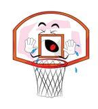 Desenhos animados de grito da aro de basquetebol Imagens de Stock