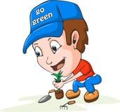 Desenhos animados de jardinagem Fotografia de Stock