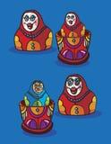 Desenhos animados de Matrioshca Fotografia de Stock Royalty Free