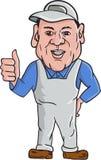 Desenhos animados de Oven Cleaner Technician Thumbs Up ilustração do vetor