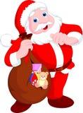 Desenhos animados de Papai Noel ilustração do vetor