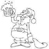 Desenhos animados de Papai Noel Fotografia de Stock