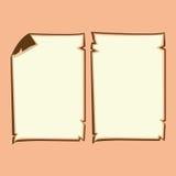 Desenhos animados de papel velhos Ilustração do Vetor