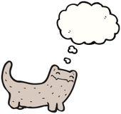 Desenhos animados de pensamento do gato Fotografia de Stock Royalty Free