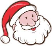 Desenhos animados de Santa Claus Father Christmas Head Smiling Fotografia de Stock