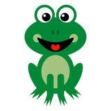 Desenhos animados de sorriso da rã verde Fotografia de Stock Royalty Free