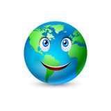 Desenhos animados de sorriso 2 da terra do planeta ilustração royalty free