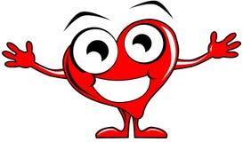 Desenhos animados de sorriso do coração com braços abertos Fotos de Stock