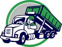 Desenhos animados de Thumbs Up Circle do camionista do escaninho do rolo-Fora ilustração stock