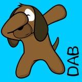 Desenhos animados de toque ligeiro da criança do cão da pose da solha ilustração stock