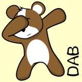 Desenhos animados de toque ligeiro da criança do hamster da pose da solha ilustração do vetor
