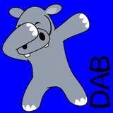 Desenhos animados de toque ligeiro da criança do hipopótamo da pose da solha ilustração do vetor