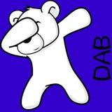 Desenhos animados de toque ligeiro da criança do urso polar da pose da solha ilustração stock