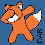 Desenhos animados de toque ligeiro da criança da raposa da pose da solha ilustração do vetor