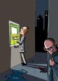 Desenhos animados de um crime que esteja aproximadamente ilustração royalty free