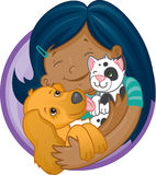 Eu amo meus animais de estimação Imagem de Stock