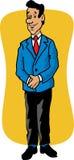 Desenhos animados de um homem de negócio Fotografia de Stock Royalty Free