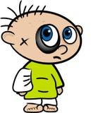 Desenhos animados de um menino ferido Imagens de Stock