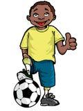 Desenhos animados de um menino preto Imagem de Stock