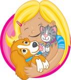 Eu amo meus animais de estimação Imagens de Stock Royalty Free