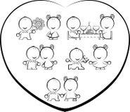 desenhos animados de Valentim-dia Fotografia de Stock Royalty Free