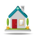 Desenhos animados do ícone da casa Ilustração Stock