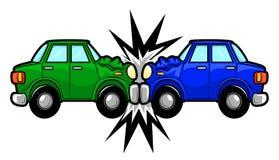 Desenhos animados do acidente de trânsito Imagens de Stock