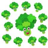 Desenhos animados do aipo com muitas expressões Fotos de Stock Royalty Free