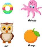 Desenhos animados do alfabeto de O Fotografia de Stock Royalty Free