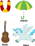 Desenhos animados do alfabeto de U Imagens de Stock