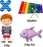 Desenhos animados do alfabeto x Fotografia de Stock