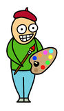 Desenhos animados do artista Foto de Stock Royalty Free