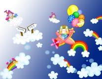 Desenhos animados do avião Fotografia de Stock