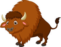 Desenhos animados do bisonte Fotografia de Stock