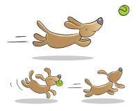 Desenhos animados do cão Fotografia de Stock