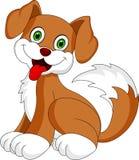 Desenhos animados do cão de cachorrinho ilustração stock