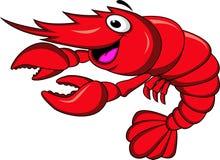 Desenhos animados do camarão Foto de Stock