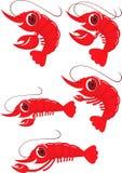 Desenhos animados do camarão Foto de Stock Royalty Free