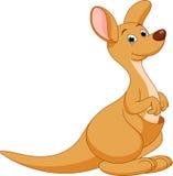 Desenhos animados do canguru ilustração stock